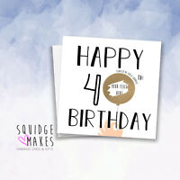 Gift Surprise Reveal Personalised 40th Birthday Scratchcard Scratch off card