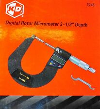 "Digital Brake Rotor Micrometer 3-1/2"" Depth Range 0-1.3"" or 33MM"