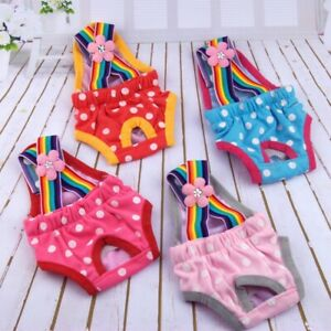 Cute Female Pet Dog Puppy Physiological Pants Diaper Suspender Sanitary Panty