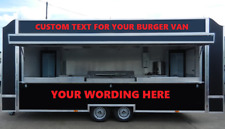 Catering Stickers, Burger Van Stickers 1@ 2200mm x 250mm & 2@ 1000mm x 150mm