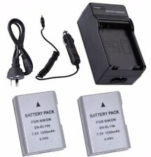 EN-EL14a Battery / MH-24 Charger For Nikon D5300 P7800 Df 1230mAh New