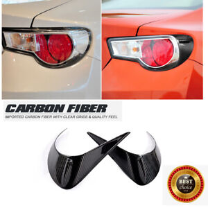 Rear Tail Light Lamp Eyelids Cover For Toyota 86 Subaru BRZ 12-16 Carbon Fiber