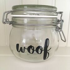 Sophia Font WOOF Vinyl Decal Sticker -DIY Cat Treat Jar/Container Label
