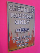 tin metal gas oil dealer garage repair shop advertising petroleum chevy chevelle