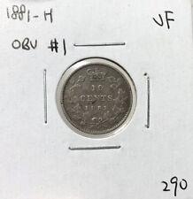 Canada 1881 H 10 Cent Dime Obv 1