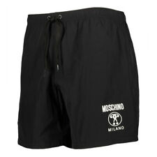 Mens Moschino Double Question Mark Logo Black Swim Shorts Trunks S M L XL BNWT