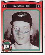 BOB HARRISON SIGNED 1991 CROWN #182 - BALTIMORE ORIOLES