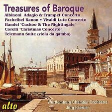 CD TREASURES OF BAROQUE ALBINONI ADAGIO PACHELBEL KANON CORELLI TELEMANN HANDEL