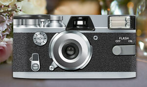 4 x Retro Silver Disposable Wedding Cameras 27exp, flash & matching table cards