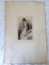 Gravure de Charles Josuah CHAPLIN (1825-1890) - Avant le Bain
