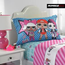 L.O.L 3 Piece Microfiber Twin Bedding Sheet Set & Pillowcase Kids Girls LOL
