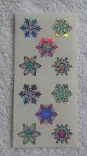Sandylion SNOWFLAKES, PRISM - Strip of VINTAGE 80's DISCONTINUED Stickers