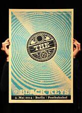 The Black Keys Berlin 2014 Siebdruck Gig Poster sehr Ltd Ed Artist Proof blau