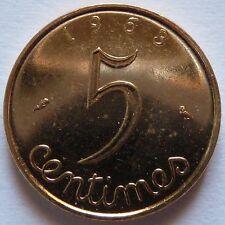 5 Centimes Epi 1963 plaqué Or
