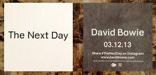 DAVID BOWIE The Next Day Ltd Ed Discontinued RARE New Sticker! Blackstar No Plan