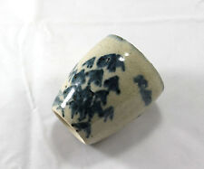 Vintage Asian Chinese or Japanese Blue Design Ceramic Tea Cup Marked