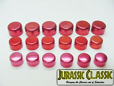 Chevrolet 18pc Red Chrome Motor Engine Bolts Caps Covers Dress-up Kit NOS CAMARO
