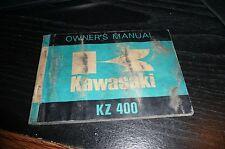 1973 Kawasaki KZ400 Owner's Manual
