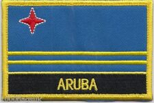 Netherlands Aruba Flag Embroidered Patch Badge - Sew or Iron on
