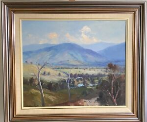 Wykeham Perry THE VALLEY Renowned Artist Classic, Large, Original Oil Landscape