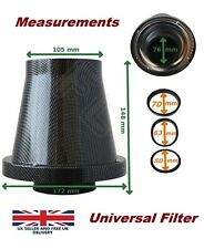 UNIVERSAL SHIELDED CONE BLACK CARBON UNIVERSAL AIR FILTER & ADAPTERS VW 3