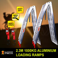 1000KG 2.3M Pair Aluminium Folding Loading Ramps ATV Motobike Motorcycle Trailer