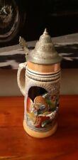 Chope de collection decorative a bière ancienne allemande 29 cm décor taverne