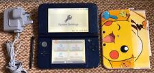 * Nuevo Estilo * Nintendo 3DS XL Azul Metálico Consola De mano Con Cargador Y Estuche