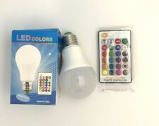 White 16 Color Changing Magic Lamp Light Bulb E27 LED RGB With IR Remote Control