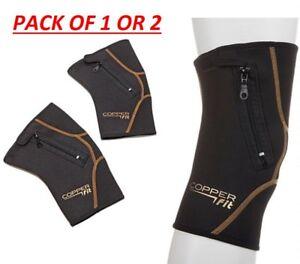 Copper Fit™ Zip Knee Sleeve, Black, Single Pack, Size Variety