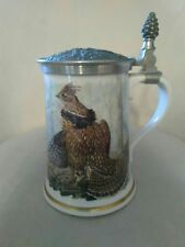 Franklin Porcelain Game Bird Stein The Ruffed Grouse