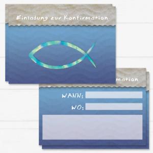 12 Konfirmation Einladungskarten, Konfirmation Einladung, Einladung Konfiermatio