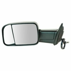 Mirror Tow Power Heated Signal Puddle Light Textured Black Left LH for Ram PU