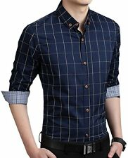 Mens Dress Plaids Shirts Luxury Casual Formal Business Multicolor Camisas MA6283