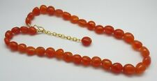 Natural Gemstone Carnelian Beads Antique Nuggets Beads 22k Gold Necklace 20""