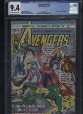 Avengers #113 CGC 9.4 Steve Englehart 1973 Rich Buckler JOE SINNOTT