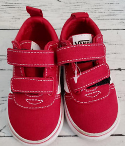 Vans baby size 5 red white