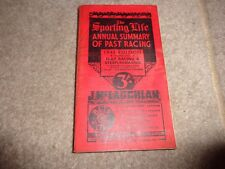 SPORTING LIFE ANNUAL Summary of past Horse Racing 1943 EDITION  over 300 pages