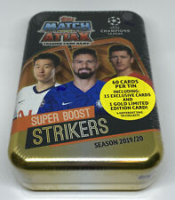 2019-20 Topps UEFA Champions League Soccer Match Attax 60count Game Changers Tin