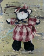 Boyds Collection Gettysburg Archive Series Cat Ornament Red Plaid Dress