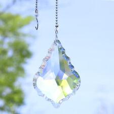 Handmade Crystal Baroque Maple Leaf Suncatcher Beads Decor Pendant Gift,3 Chains