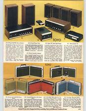 1972 PAPER AD Toyo 8 Track Am/Fm Stereo Radio Portable Recorder AM FM