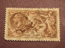 Great Britain Stamp Scott# 179 King Edward V Britannia Rule the Waves 1919 L37