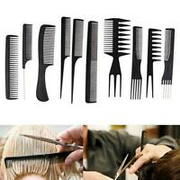 10Pcs Combs Hair Styling Salon Comb Set Brush Hairdressing Pro Barber Tools CO