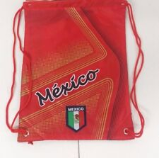 Mexico Cinch Bag Color Red W/ Gold Official Licensed Product  NWOT