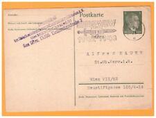 WIEN (AUTRICHE Allemande) Carte-ENTIER POSTAL HITLER / KRIEGS WHW en 1943
