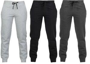 Kids Boys Slim Fit Trousers Sports Jogging Pants Casual School Play Soft Fleece