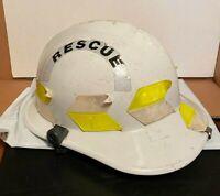 1997 Vintage Fireman Firefighter Helmet Safeco Neck Skirt Rescue