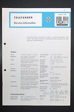TELEFUNKEN MUSIKUS 1080  Service-Information/Schaltplan! o44