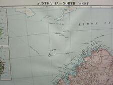 1919 LARGE MAP ~ AUSTRALIA NORTH WEST KIMBERLEY DIVISION VEGETATION ECONOMICS